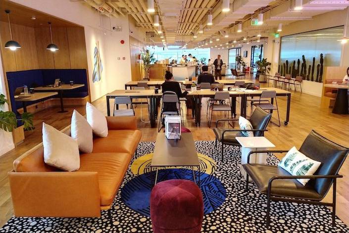 A WeWork sharing office in Shanghai in August. Photo: VCG