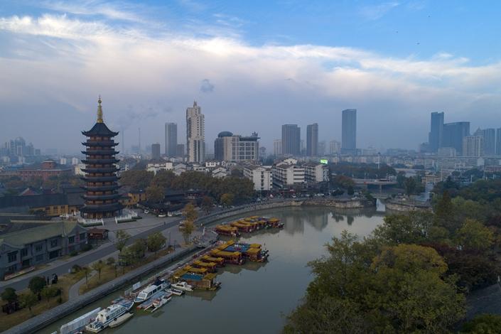 The Li Canal in Huaian, East China's Jiangsu province, on Nov. 6. Photo: VCG