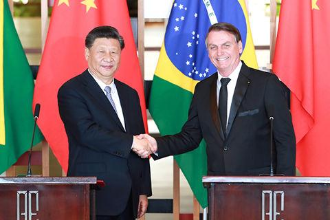 习近平与巴西总统会谈 探讨就基础性产品建立直接供应渠道