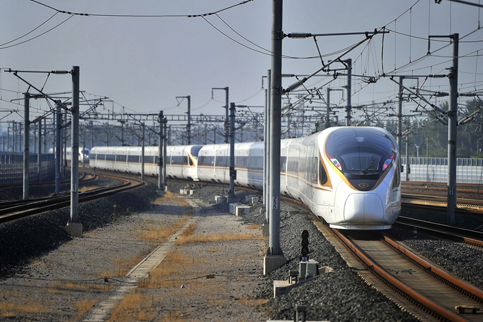 Established in 2008, the Beijing-Shanghai high-speed railway is one of few Chinese lines to turn a profit.  Photo: VCG