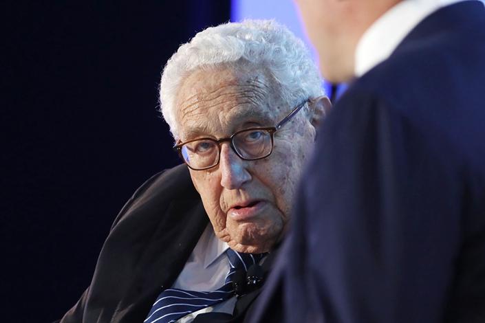 Former U.S. Secretary of State Henry Kissinger at the Bloomberg New Economy Forum in Beijing on Thursday. Photo: Bloomberg