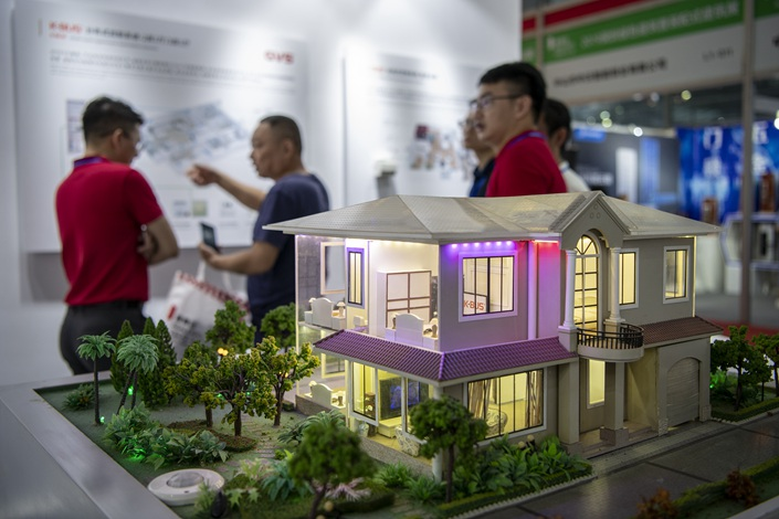 A housing expo in Shenzhen in August. Photo: VCG