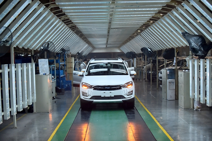 Zotye was hit by a financial crunch in 2018 and missed payments to dealers. Photo: VCG