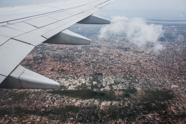 An aerial view of Mozambique's capital city, Maputo. Photo: Huang Shulun/Caixin