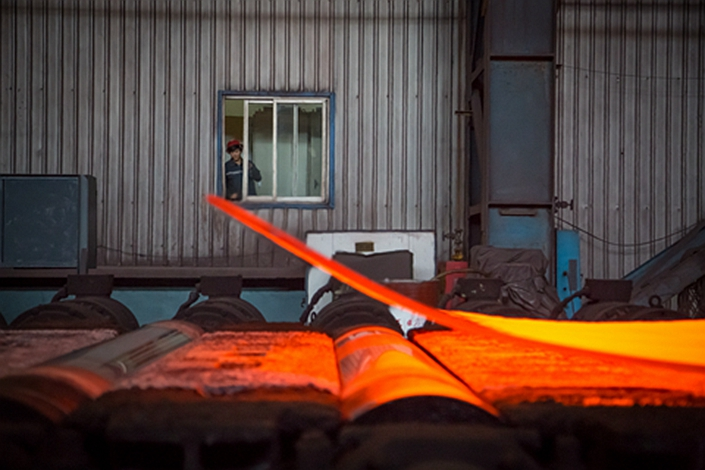 Chinese steel production is expected to maintain rapid growth, increasing 6.5% this year to hit 988 million tons even as the country's economy slows. Photo: VCG