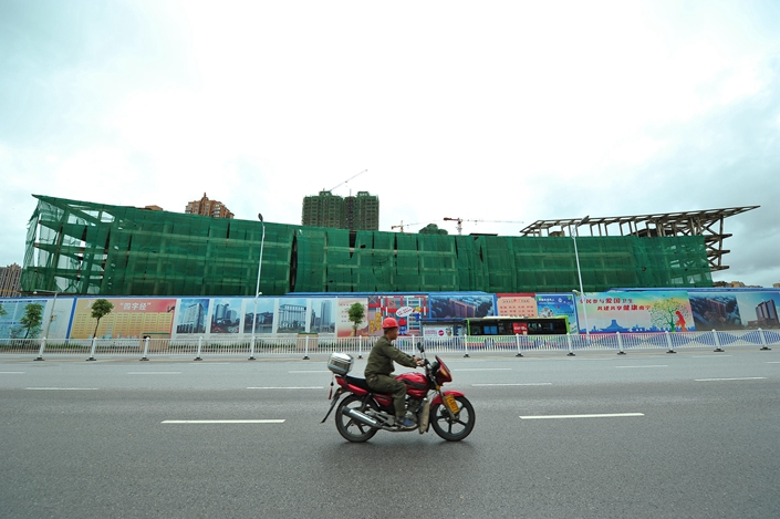 A real estate project in Nanning, South China Guangxi Zhuang autonomous region, in July 2015.