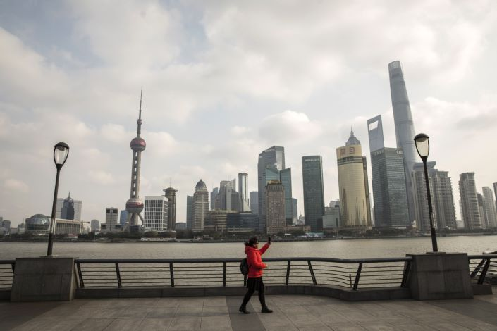 View of Shanghai's Lujiazui financial district from the Bund. Photo: Bloomberg