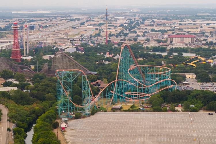The Six Flags Over Texas theme park in Arlington, Texas.