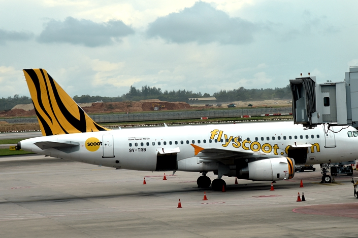 Singaporean budget airline Scoot announced Monday that it would offer two one-way flights to bring Chinese travelers stranded in Singapore to Wuhan. Photo: IC Photo