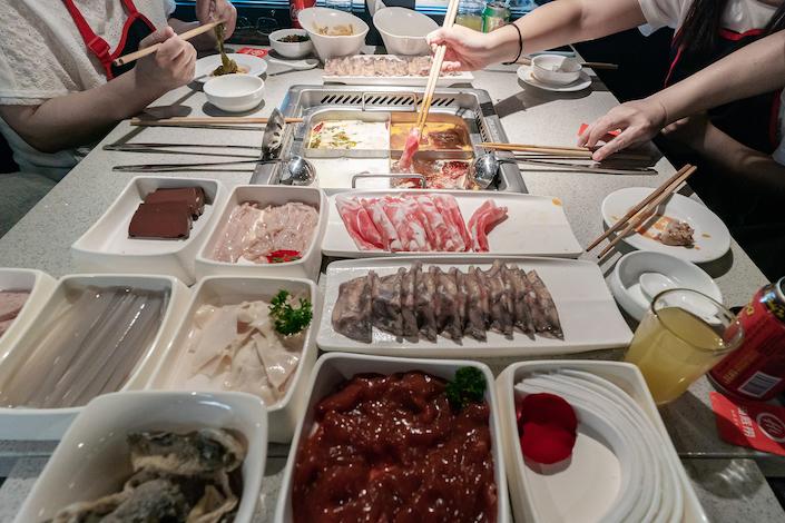 A Haidilao hotpot restaurant in Hong Kong. Photo: Bloomberg