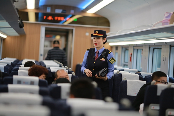 Caixin's snapshot of the operating conditions in China's services sector fell to its lowest reading in three months in January. Photo: IC Photo