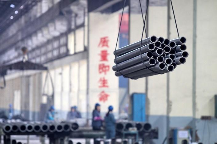 A steel factory in Jiangsu province. Photo: VCG