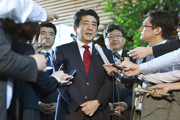 Japanese Prime Minister Shinzo Abe in Tokyo on June 5. Photo: IC Photo