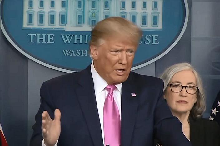 President Donald Trump speaking on Feb. 26. Photo: White House
