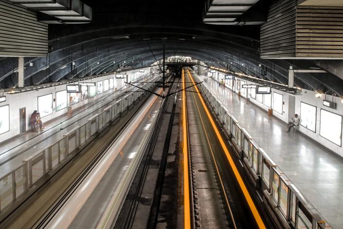 Line 1 of the Guangzhou Metro. Photo: VCG