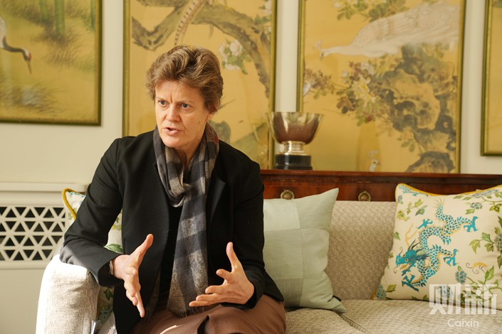 British Ambassador to China Barbara Woodward in Beijing. Photo: Cai Yingli/Caixin