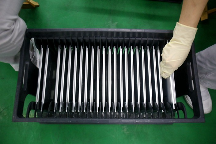 Lithium batteries are produced in a factory in Nanchang, Jiangxi province. Photo: VCG