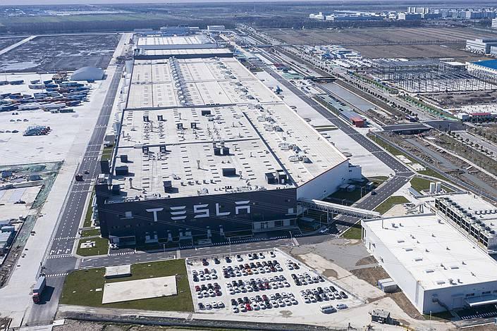 Tesla's factory in Shanghai in Feb. 17. Photo: VCG