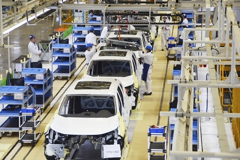 An assembly line at Dongfeng Honda in Wuhan. Photo: VCG