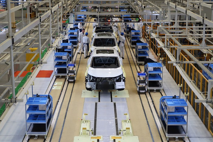 Dongfeng Honda Automobile's finished car sales in February totaled just 3,803 units, about 10% of the figure a year earlier. Photo: VCG