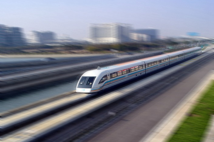 Maglev technology could cut down travel times. But there is a debate over whether the technology is safe and reliable, and whether the investment makes sense financially. Photo: IC Photo