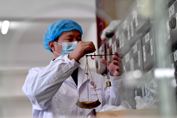 nullThe Chinese government has been conducting clinical research on a treatment for Covid-19. Photo: IC Photo