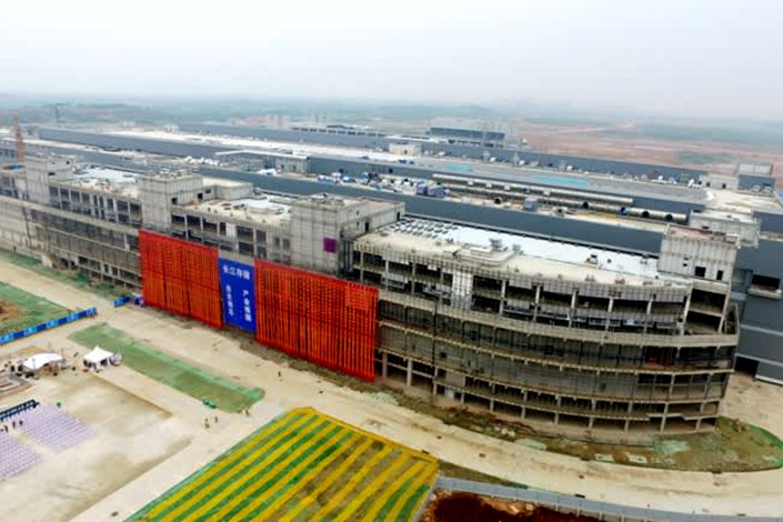 Yangtze Memory Technologies' sprawling campus (pictured under construction) in Wuhan, Central China's Hubei province. Photo: Courtesy of Tsinghua Unigroup