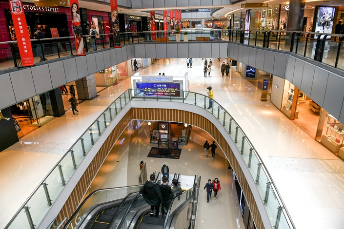 Shopping malls in the western Chinese municipality of Chongqing reopened on Saturday to few customers. Photo: IC Photo