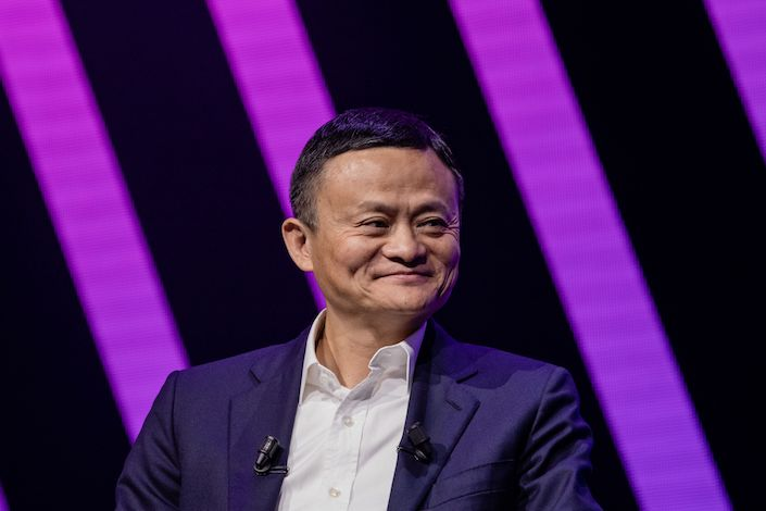 Alibaba cofounder Jack Ma at a conference in Paris on May 6. Photo: Bloomberg