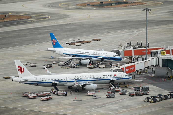 China's three largest carriers have been undergoing unprecedented operational struggles. Photo: IC Photo