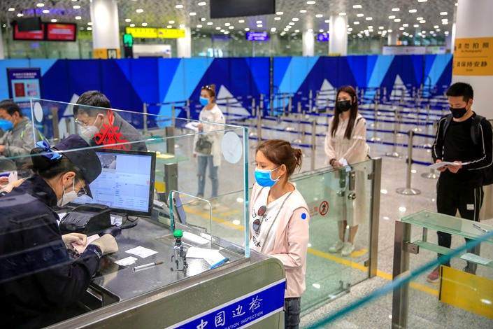 "Almost all of China's newly reported coronavirus cases over the last few weeks have been so-called ""imported"" cases. Photo: VCG"