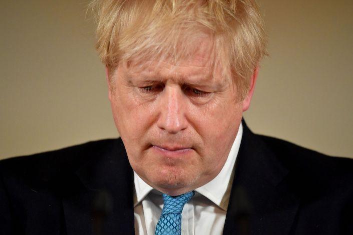 British Prime Minister Boris Johnson has Covid-19. Photo: Bloomberg