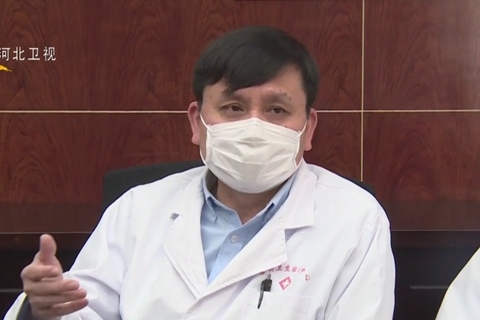 Zhang Wenhong, an infectious disease doctor who leads Shanghai's coronavirus expert team. Photo: CCTV