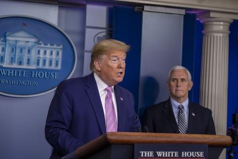 【美股】特朗普称看到美国疫情企稳迹象