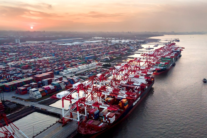 """""""The difficulties facing our foreign trade development cannot be underestimated,"""" said customs administration spokesperson Li Kuiwen."""