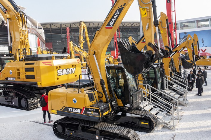 Excavator sales are one of the indicators analysts use to gauge the state of investment in infrastructure and property.