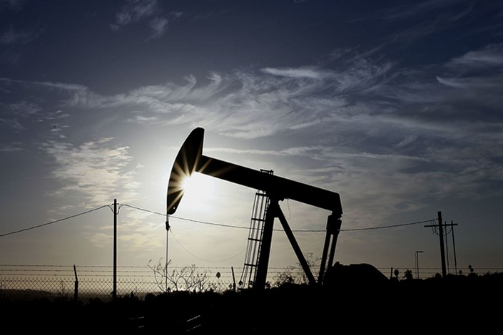 A pumpjack operates at the Inglewood Oil field in Los Angeles. Photo: Bloomberg