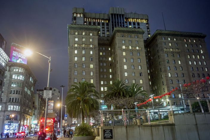 The Westin St. Francis Hotel stands in San Francisco. Photo: Bloomberg