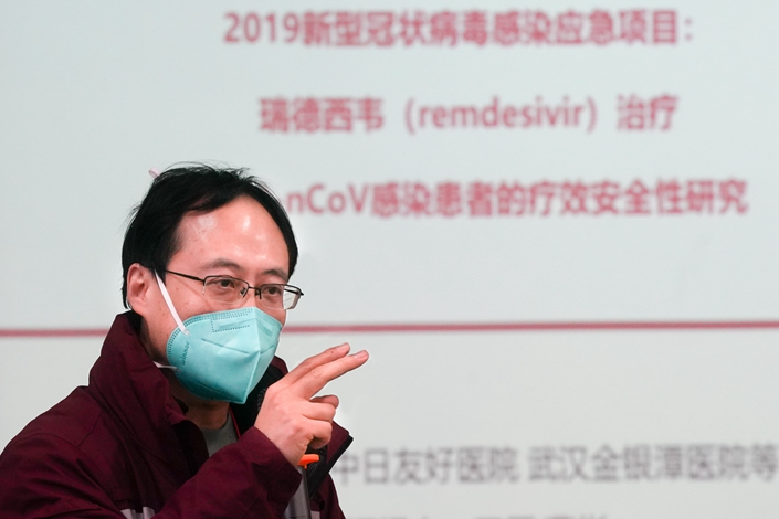 Cao Bin, vice president of the China-Japan Friendship Hospital in Beijing. Photo: Xinhua