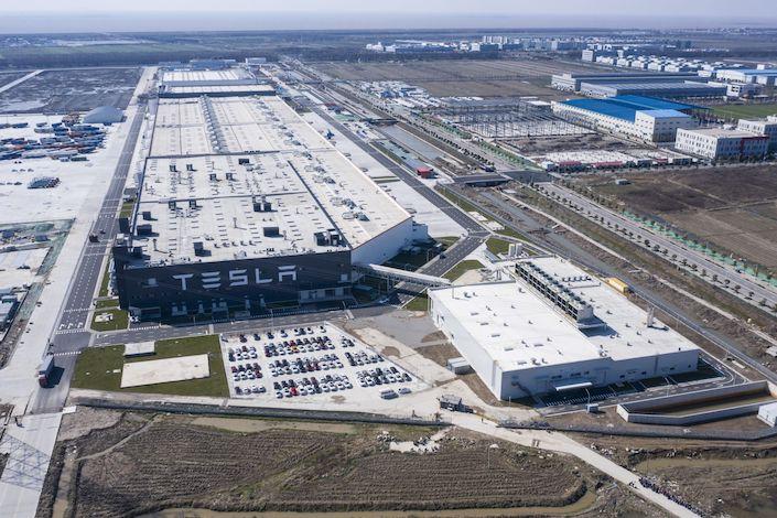 The Tesla Inc. Gigafactory near Shanghai.Photo: Bloomberg