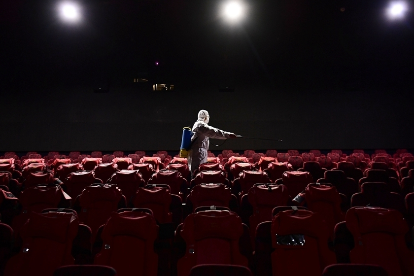 Movie theaters in certain parts of China are being allowed to reopen.