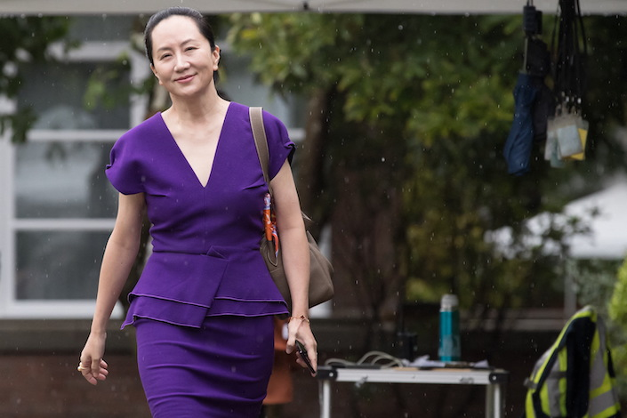 Meng Wanzhou was seen at her residence in Vancouver in September 2019. Photo: IC