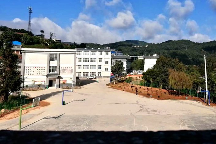 A school stands closed in Yunnan province's Lancang Lahu autonomous prefecture in late April. The school fully reopened earlier this week. Photo: Courtesy of Dao Heying
