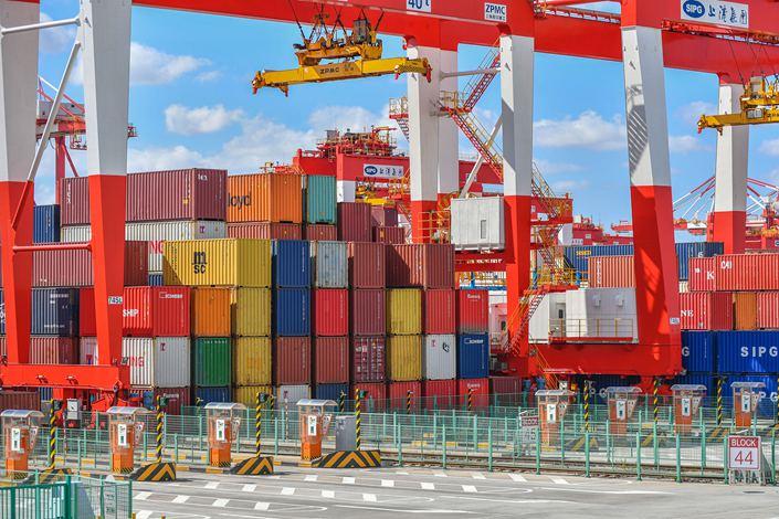 Yangshan deepwater port in the Shanghai Waigaoqiao free trade zone.