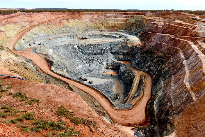 An open-pit mine in the Zijin-controlled Norton Gold Fields in Western Australia in August 2015