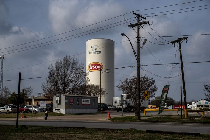 Tyson Foods Inc. processing plant in Center, Texas, U.S. Photo: Bloomberg
