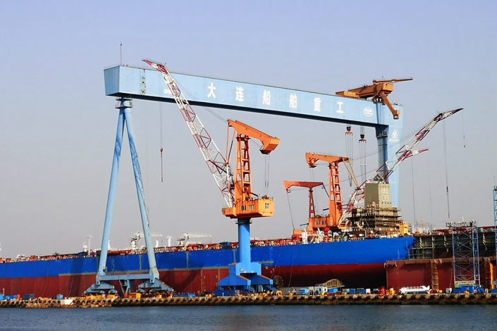 China State Shipbuilding Corp. has seen its order book rise in value despite the slowdown from the coronavirus pandemic, thanks to strong government support. Photo: Nikkei
