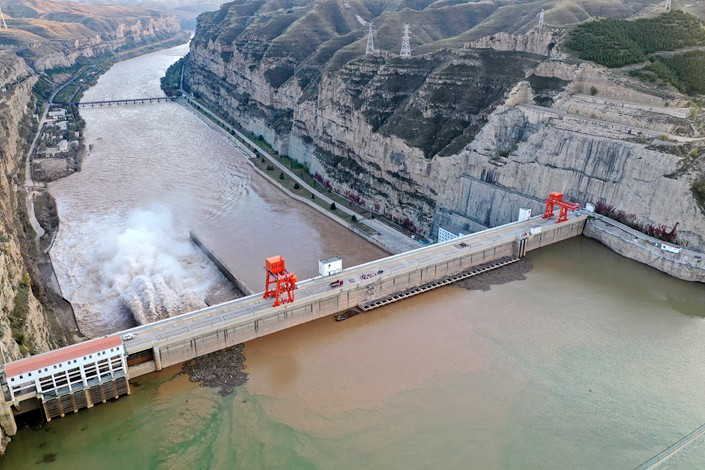A dam in North China's Shanxi province.