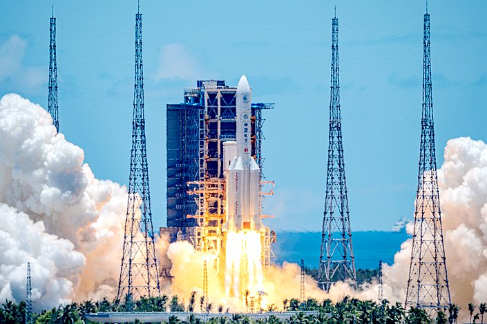 Tianwen-1, China's first Mars exploration mission, was launched on a Long March-5 carrier rocket in Wenchang, Hainan, on July 23.