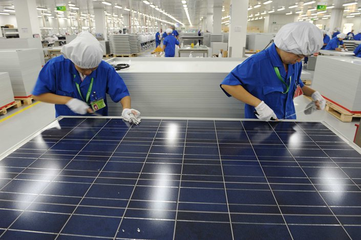 China's top 10 solar firms accounted for three-quarters of total domestic solar cell production at the end of the first half of 2020, up from about 55% at the beginning of the year.